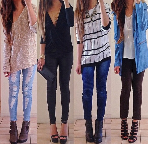 shirt weheartit jeans jewels blouse