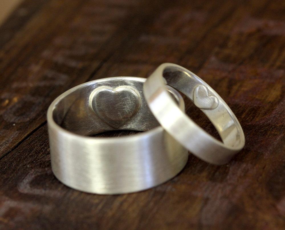 Bague de mariage cœur secret (E0249)