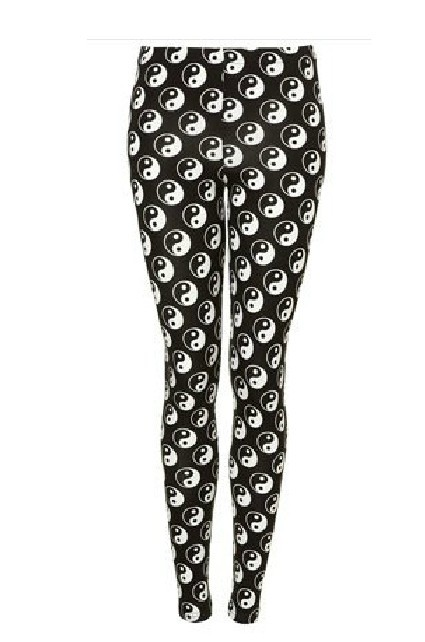 EAST KNITTING fashion BL 130 top sale Yin Yang Print Leggings women tattoo  brand designer pants free shipping S/M/L/XL-in Leggings from Apparel & Accessories on Aliexpress.com