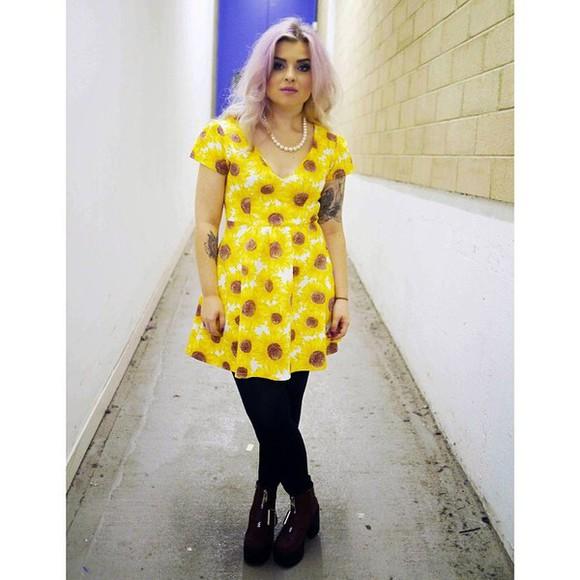 yellow dress yellow melonlady sunflower dress