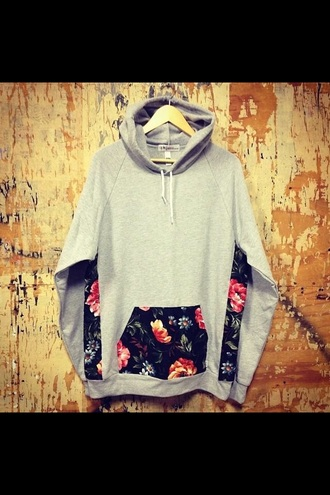 sweater floral skater skirt fashion grey sweater hoodie menswear mens sweater mens jacket