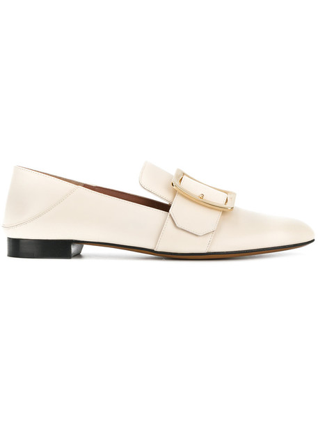 Bally women classic loafers leather nude shoes
