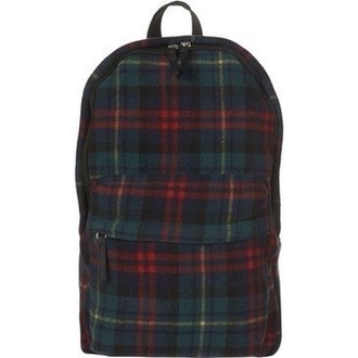 bag backpack preppy hipster plaid