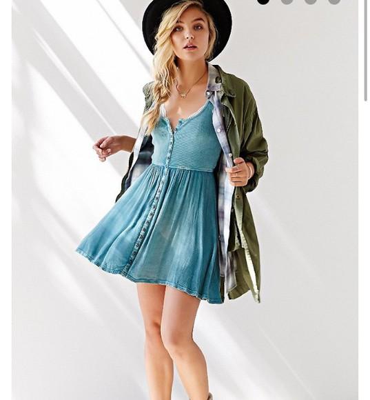 dress denim dress blue dress fashion
