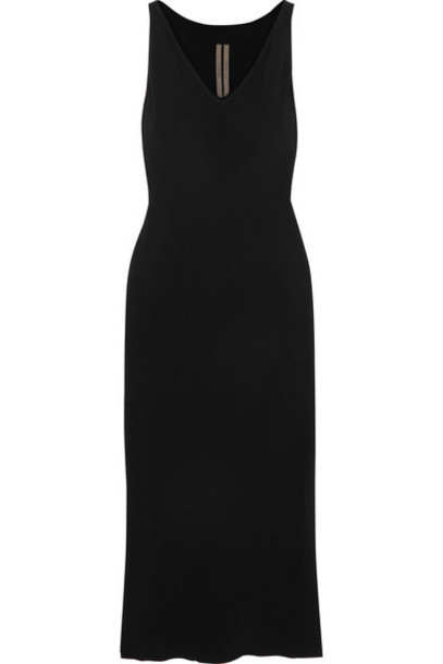 Rick Owens dress midi dress midi black