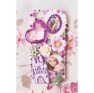 jewels disney princess iphone case iphone apple pink purple rapunzel and flynn pascal rapunzel tangled disney princess