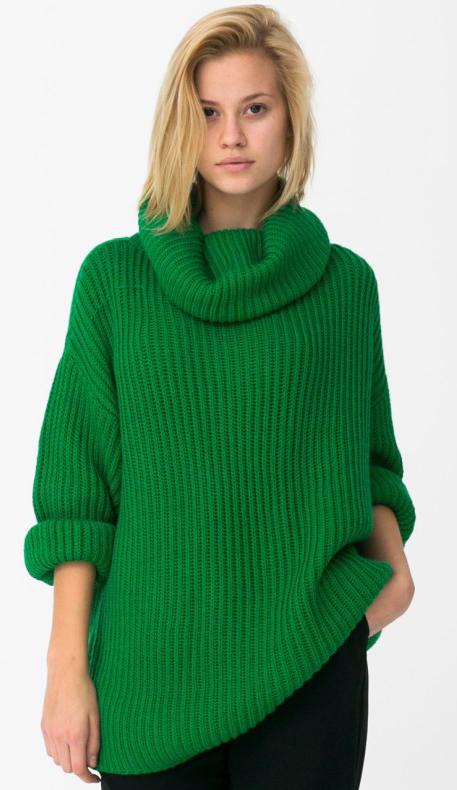 Зеленый Вязаный Джемпер Доставка