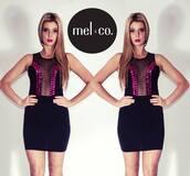 dress,pink,black,short dress,summer,little black dress,embellished dress,summer outfits