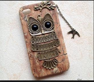 phone cover owl broun