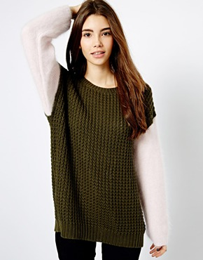 Shae | Shae Mixed Yarn Oversized Waffle Jumper at ASOS