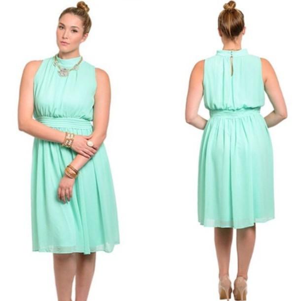 Dress Plus Size Dress Womens Fashion Curvy Curvy Dress Retro