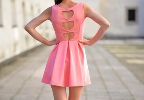 pink dress heartshaped back