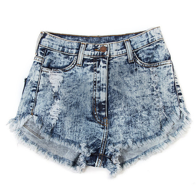 Washed Out 80s Acid Shorts - Arad Denim