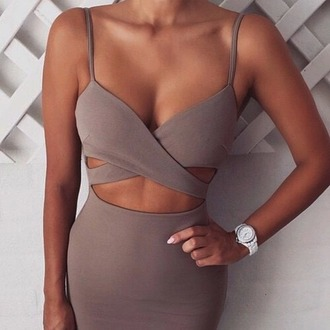 nude dress beige dress bodycon dress bodycon party dress sexy sexy dress dress wrap dress nude date dress tan beige black dress taupe midi dress long tan dress grey brown mauve clothes pink