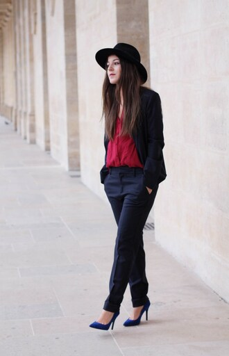 elodie in paris blogger coat jacket pants top shoes