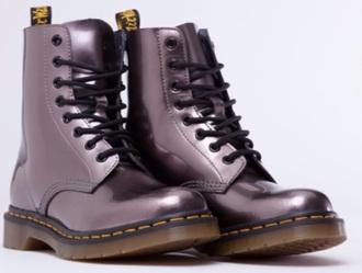 shoes drmartens purple grey dr marten boots