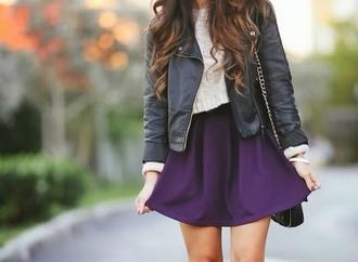 skirt plum sweater