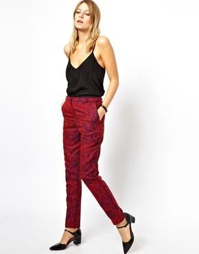 ASOS   ASOS Trousers in Textured Paisley at ASOS