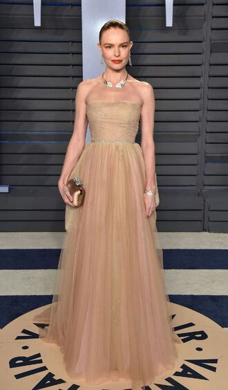 bag tulle dress nude nude dress gown prom dress clutch kate bosworth oscars 2018 strapless