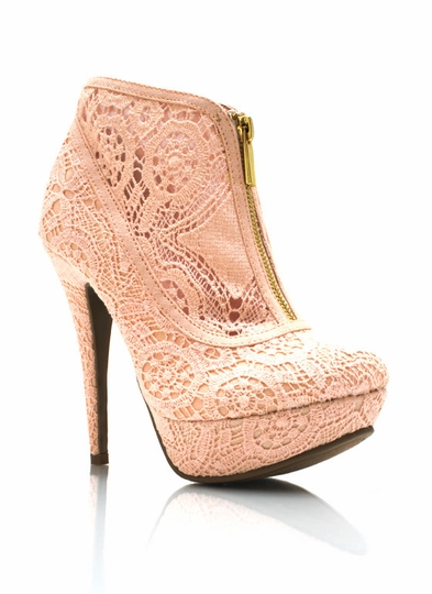 Zippered-Lace-Heels BLUSH BLACK - GoJane.com