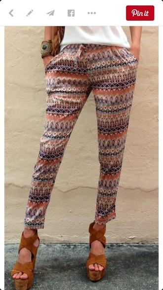 pants pink pants tribal harem pants harem pants pink tribal print