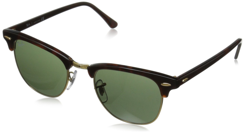 ray ban aviator non polarized sunglasses  com: Ray-Ban RB3016 Classic Clubmaster Sunglasses, Non-Polarized ...