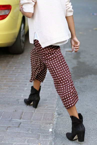 flowy pants print color loose comfy pants