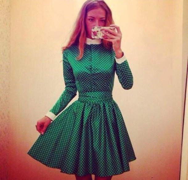 dress dotted dress
