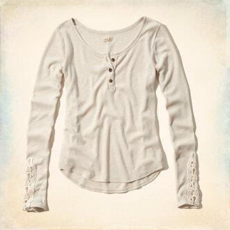 blouse lace henley crochet henely boho