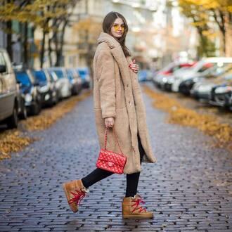 coat tumblr camel camel coat camel long coat long coat boots winter boots oversized coat oversized bag sunglasses