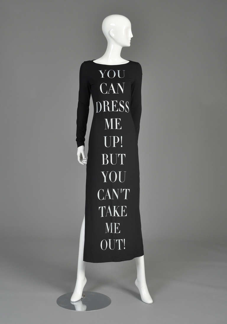 Moschino 'dress me up' 1990s bodycon maxi dress