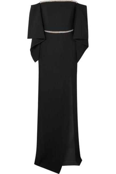 Roland Mouret gown embellished black dress