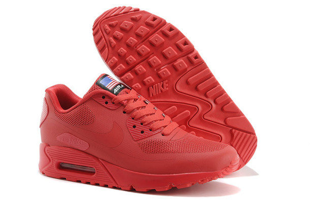 shoes, air max 90 hyperfuse independence day red Wheretoget