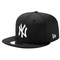 New era mlb 59fifty black & white basic cap - men's at eastbay