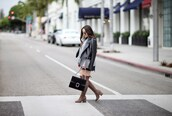 styletomystreet,blogger,top,skirt,jacket,bag,gucci bag,black leather jacket,thigh high boots,mini skirt