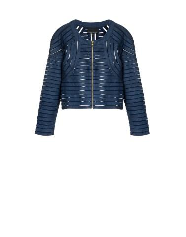 Cynthia Rowley denim mesh jacket | Keep.com