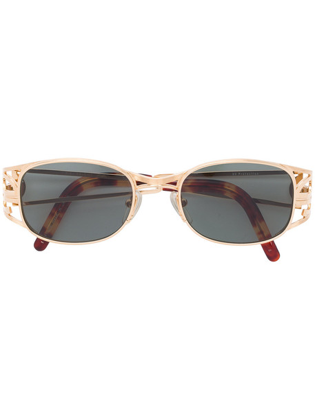 Jean Paul Gaultier Vintage oval shaped sunglasses - Metallic