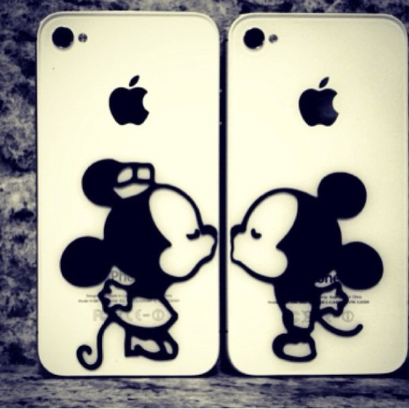 disney cute mickey mouse jewels stickers kiss iphoneskin minnie mickey cover iphone5s