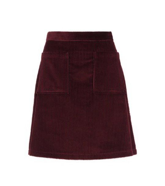 A.P.C. miniskirt red skirt