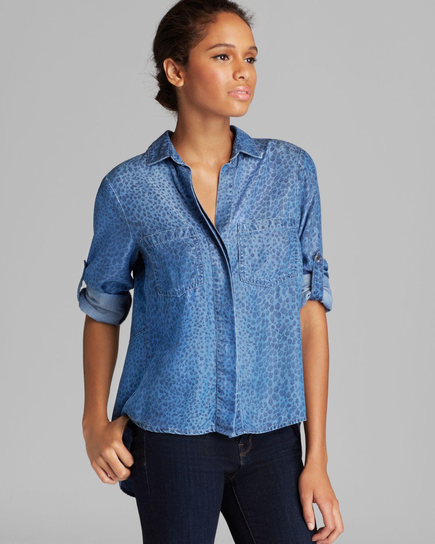 Bella Dahl Shirt - Chambray Leopard Print | Bloomingdale's