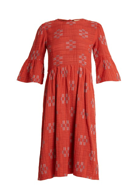 Ace & Jig dress jacquard geometric cotton red