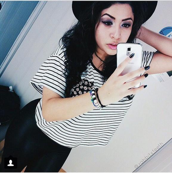 stripes blouse cropped