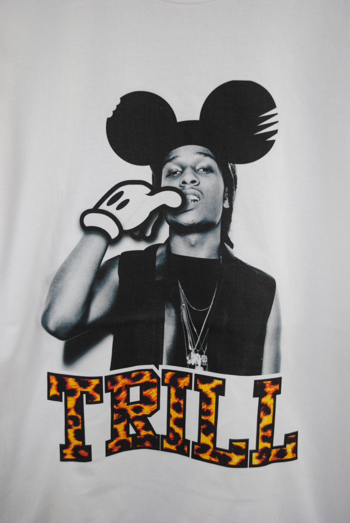Shirt asap rocky trill mickey mouse hip hop supreme tee clothing