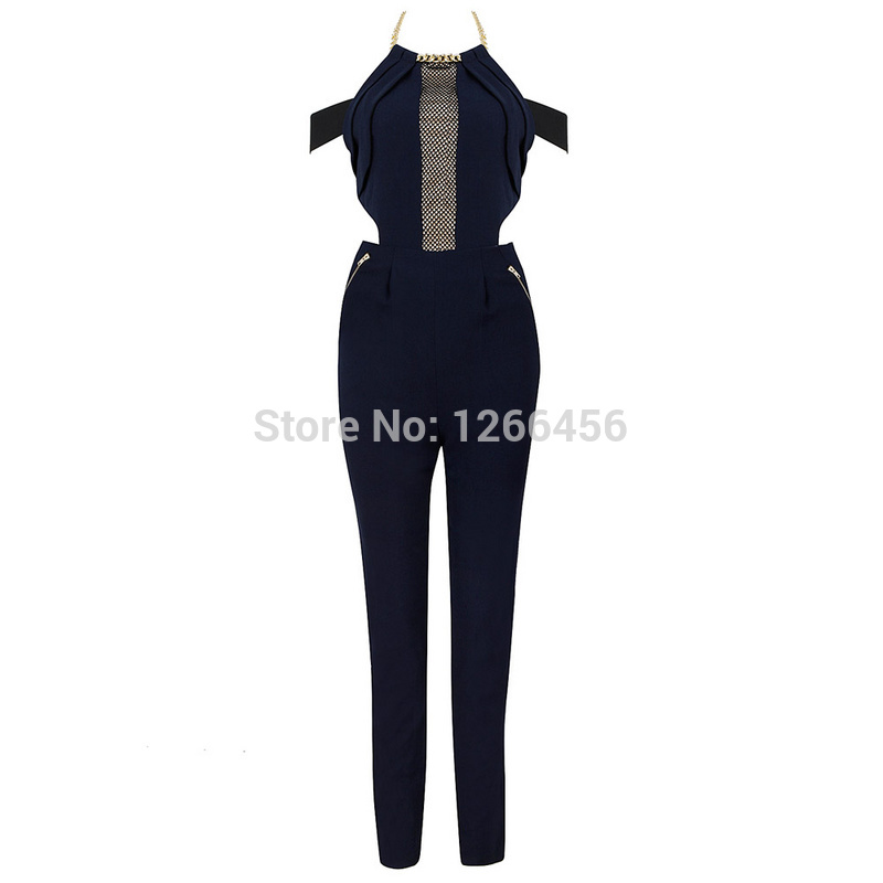 Aliexpress.com : Buy 2014 Sexy Lady Hot Gold Backless Off The Shoulder Fashion Celebrity Back Zipper Halter Jumpsuits With Free Shipping MX130 from Reliable jumpsuits kids suppliers on Lady Go Fashion Shop