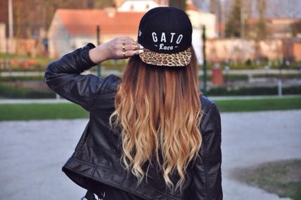 hat cap black gato loco