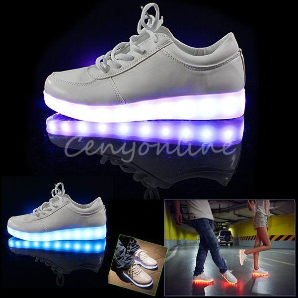 Unisex Geschenk Licht Led Leuchte Leder Schuhe Weihnachten 7