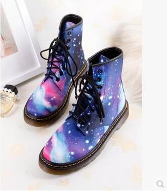 shoes boots dr marten boots galaxy print