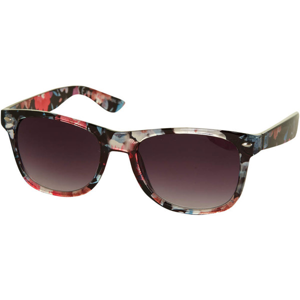 Dorothy Perkins Floral LA Wayfarer Sunglasses - Polyvore