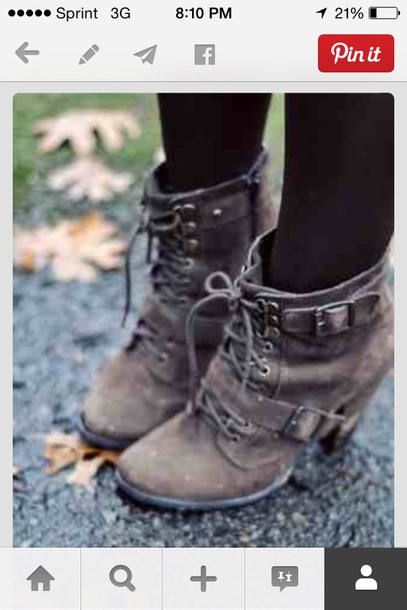 shoes buckles winter outfits ankle boots grunge shoes grey ankle boots with buckles cute cute shoes shoes heels brown heels