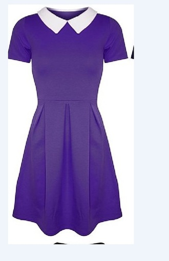 dress purple purple dress skater dress collared dress